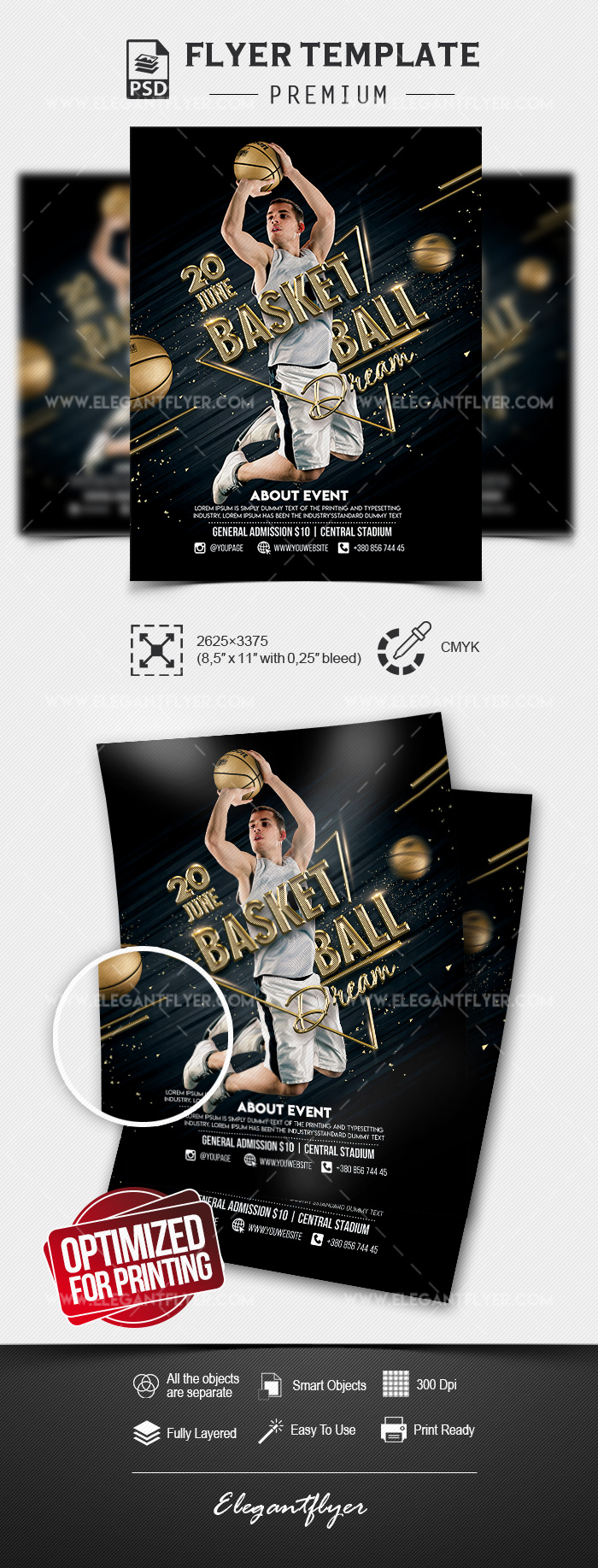 Basketball Dream – Premium Flyer Template in PSD