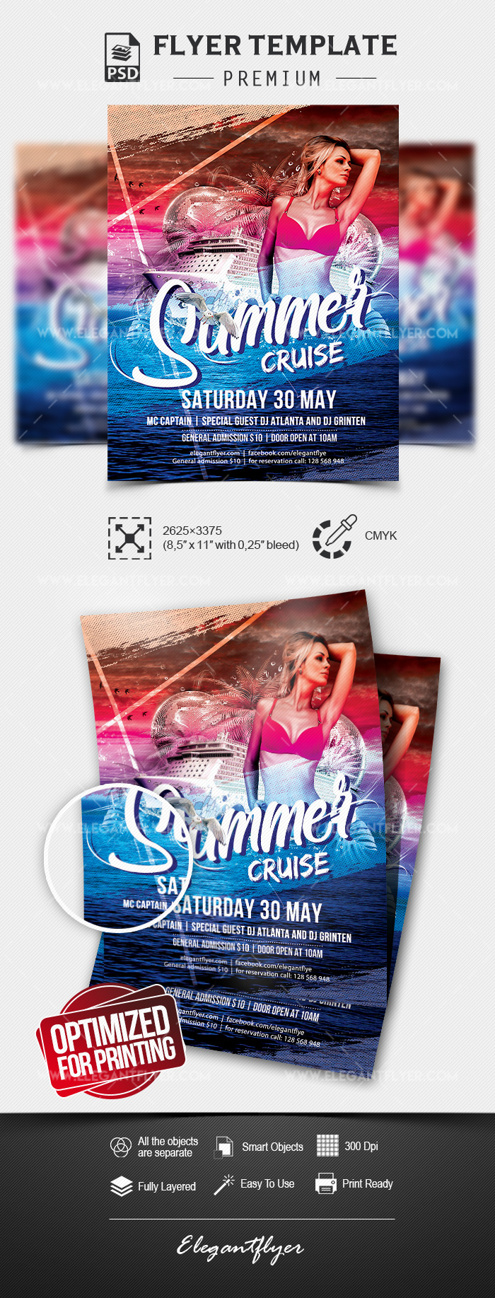 Summer Cruise – Premium Flyer Template in PSD
