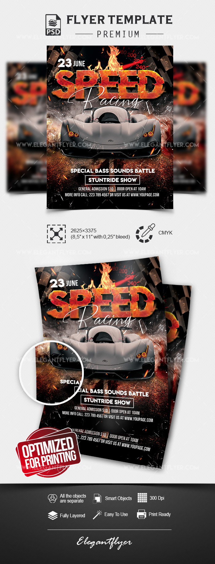Speed Racing  – Premium PSD Flyer Template