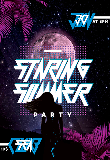Staring Summer Night – Premium Flyer Template in PSD
