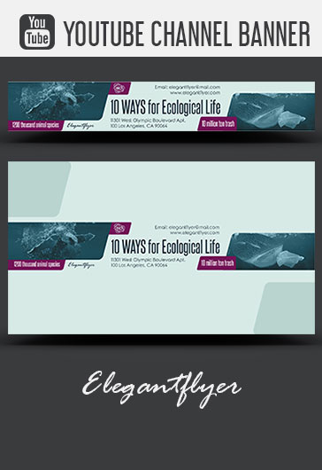 10 Ways for Ecological Life – PSD Flyer Template