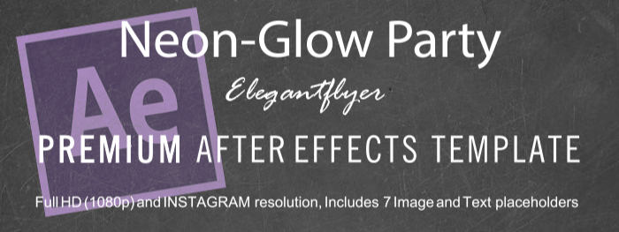 Neon-Glow Party After Effects Template