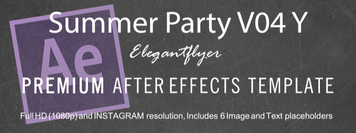 Summer Party V04 Y After Effects Template