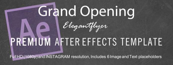 Grand Opening After Effects Template