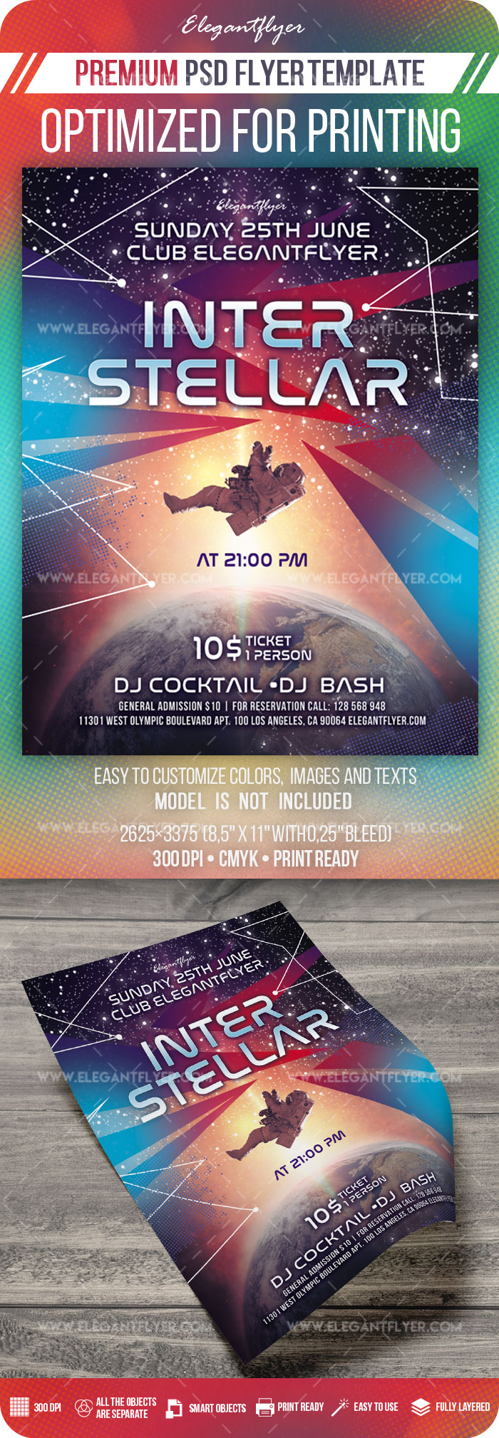 Interstellar – Premium PSD Flyer Template