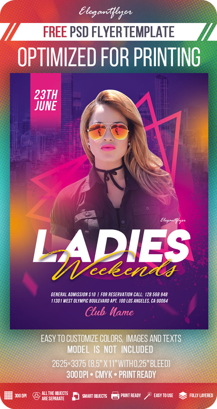 Ladies Weekends – Free Flyer Template in PSD