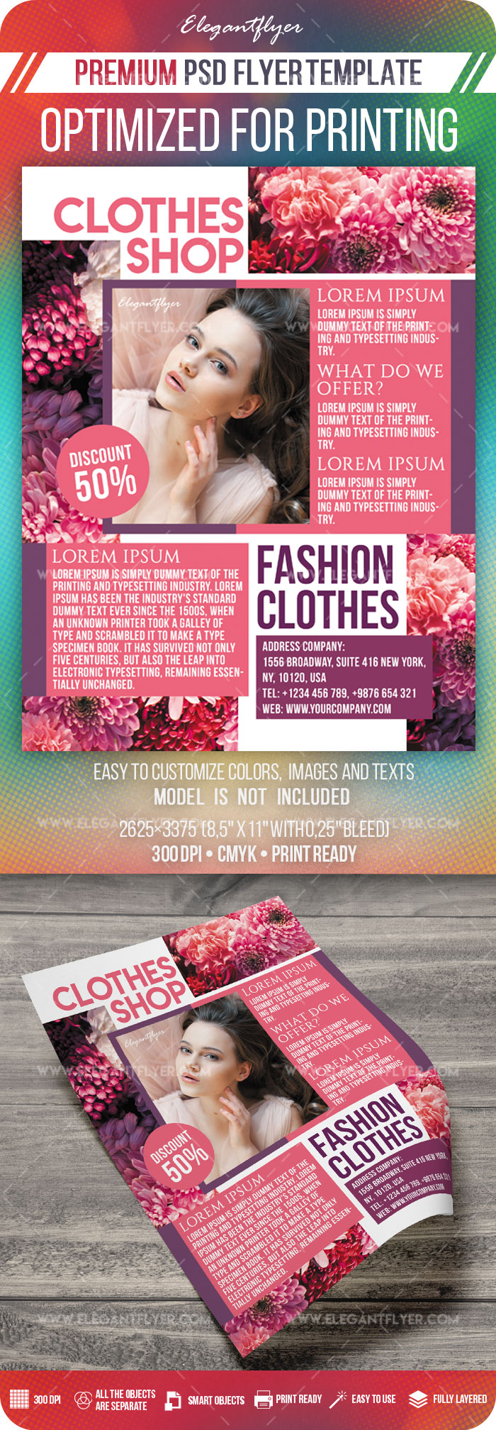 Clothes Shop – Premium PSD Flyer Template