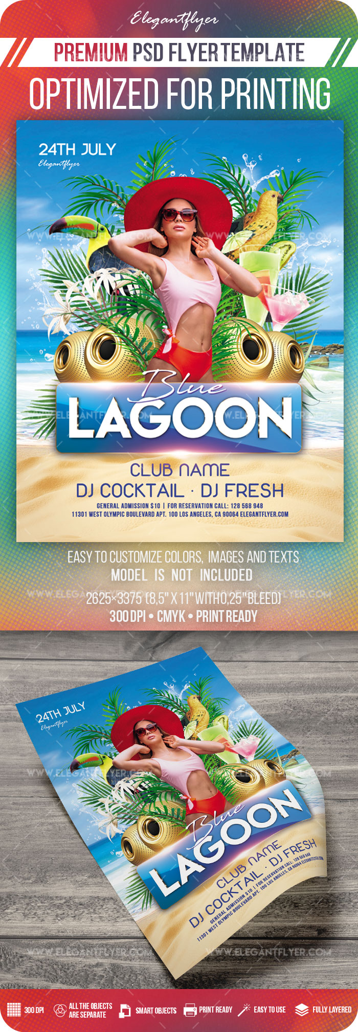 Blue Lagoon – Premium Flyer Template in PSD