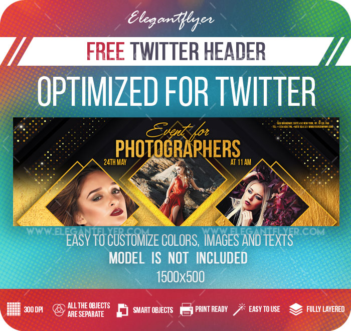 Event for Photographers – Free Twitter Header PSD Template