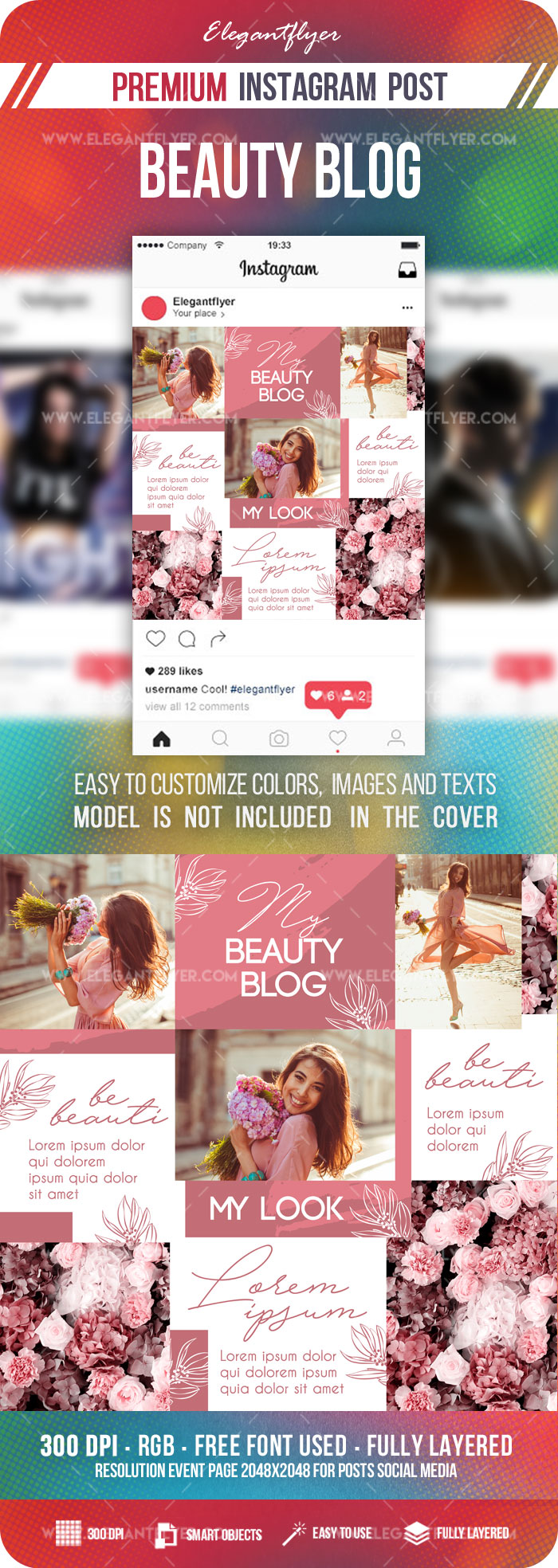 Beauty Blog – Instagram PSD Puzzle