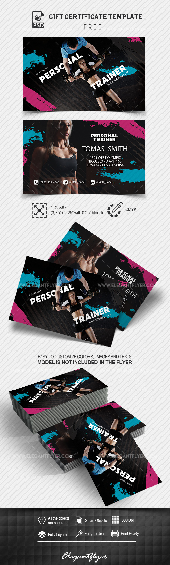 Personal Trainer – Free PSD Business Card Template