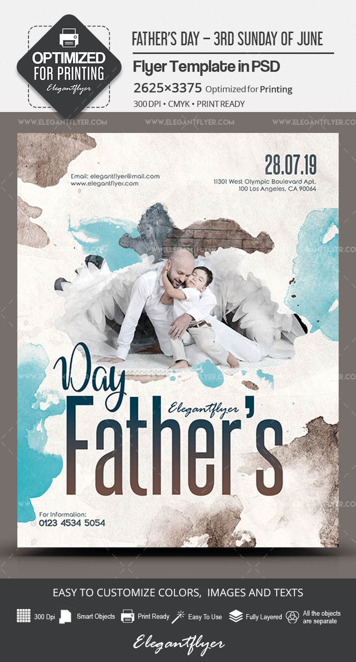 Father's Day – 3rd Sunday of June – Premium PSD Flyer Template