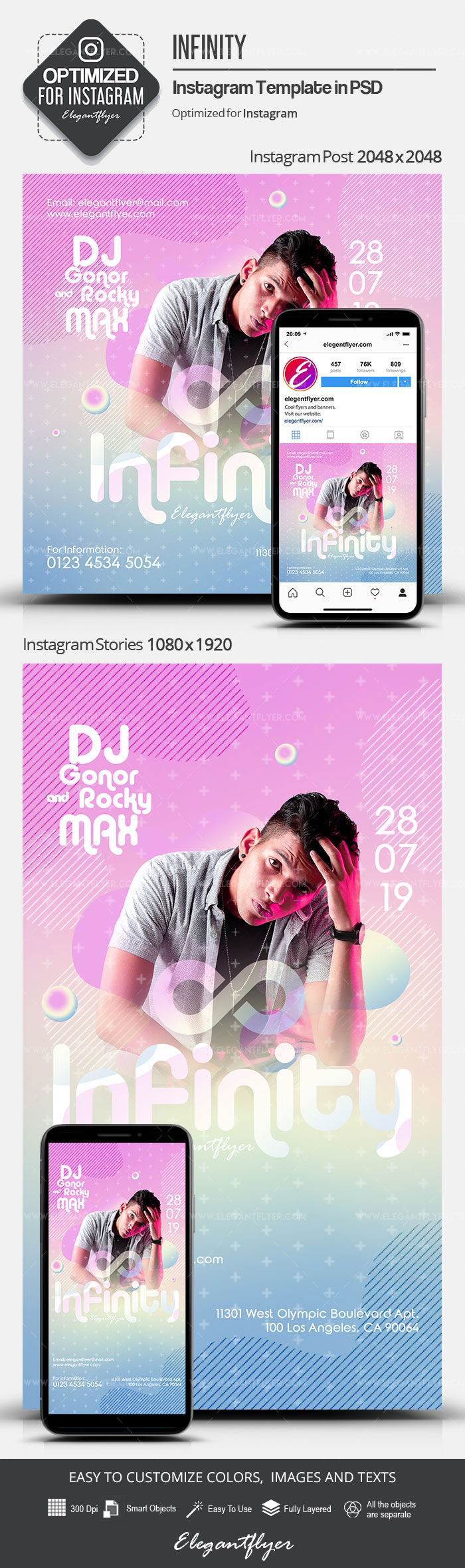 Infinity – Instagram Stories Template in PSD + Post Templates