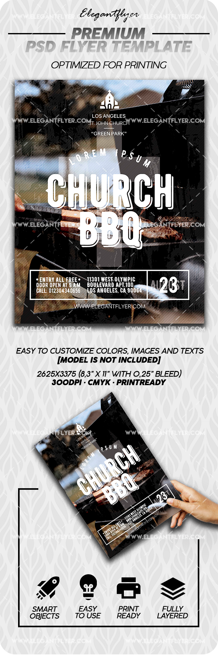 Church BBQ – Premium PSD Flyer Template