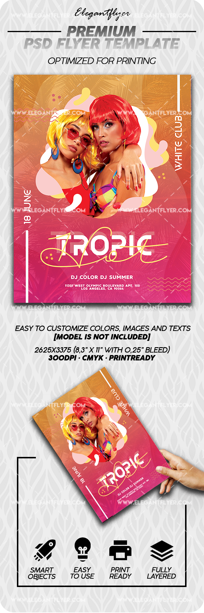 Hot Tropic – Premium PSD Flyer Template