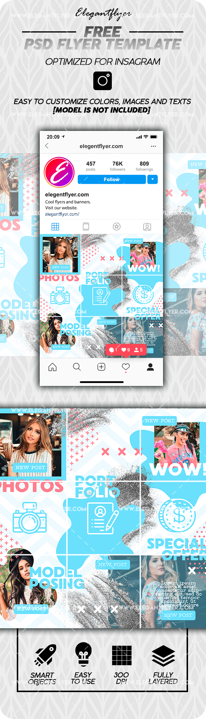 Photographer – Free Instagram PSD Puzzle