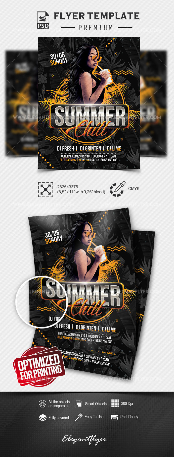 Summer Chill – Premium Flyer Template in PSD