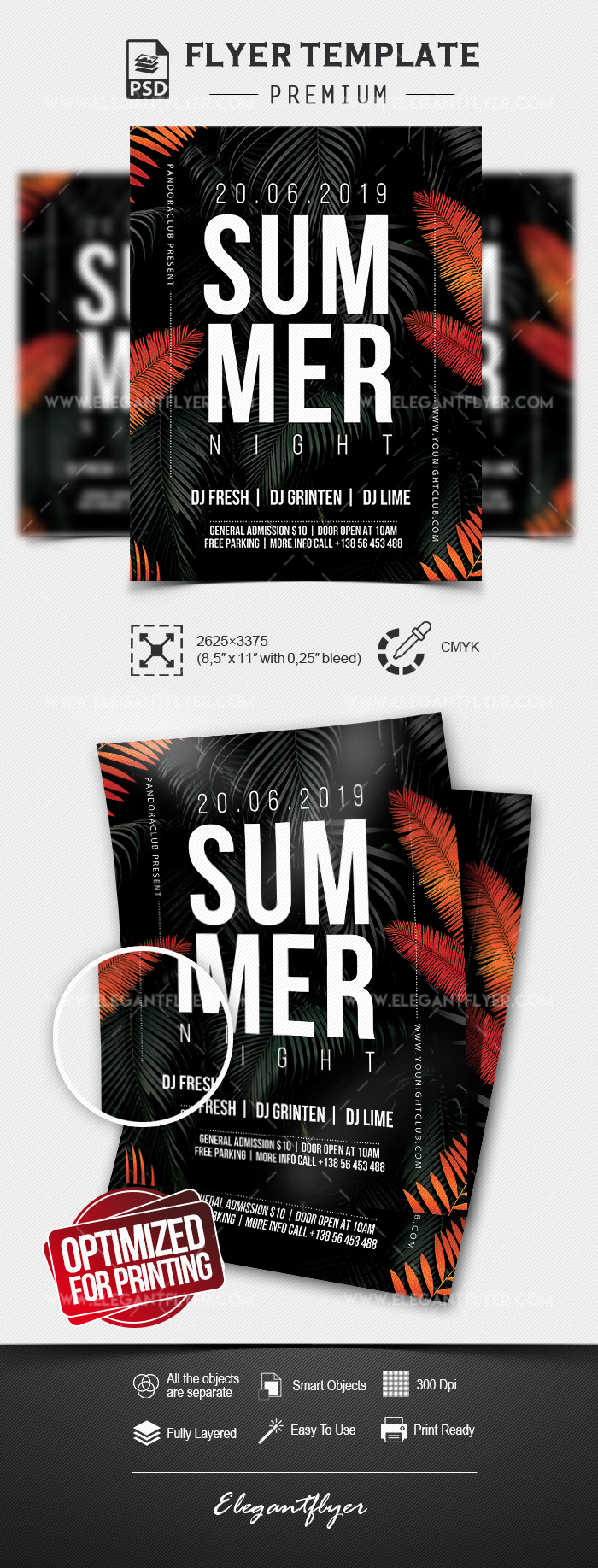 Summer Night – Premium PSD Flyer Template