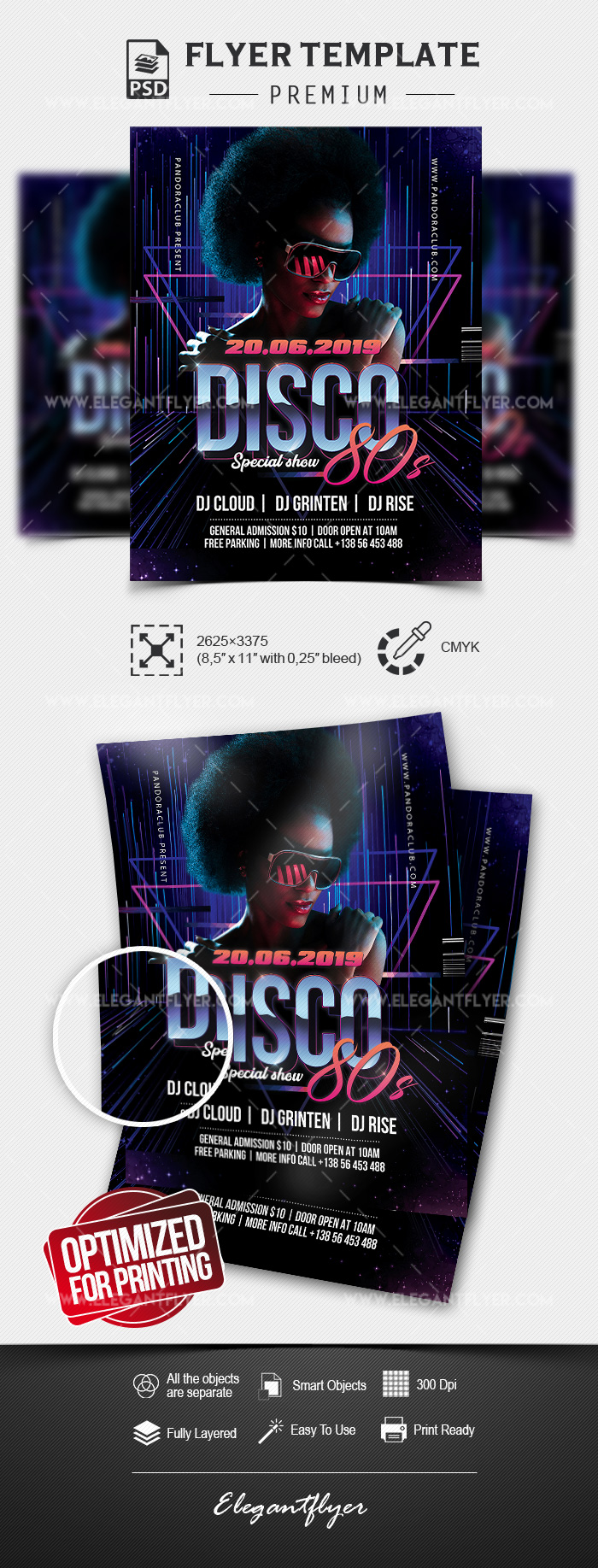 Disco 80s – Premium Flyer Template in PSD