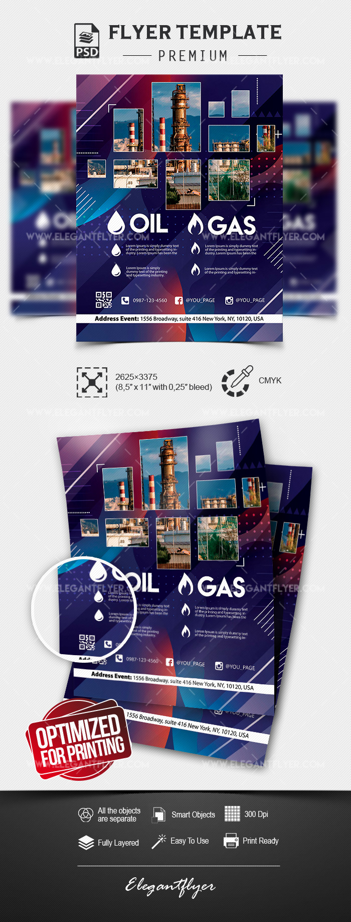 Oil & Gas Company – Premium Flyer Template in PSD