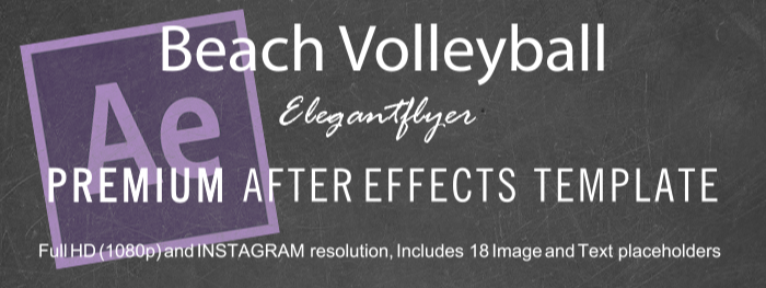 Beach Volleyball After Effects Template