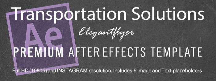 Transportation Solutions After Effects Template