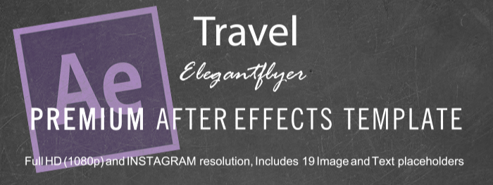 Travel After Effects Template