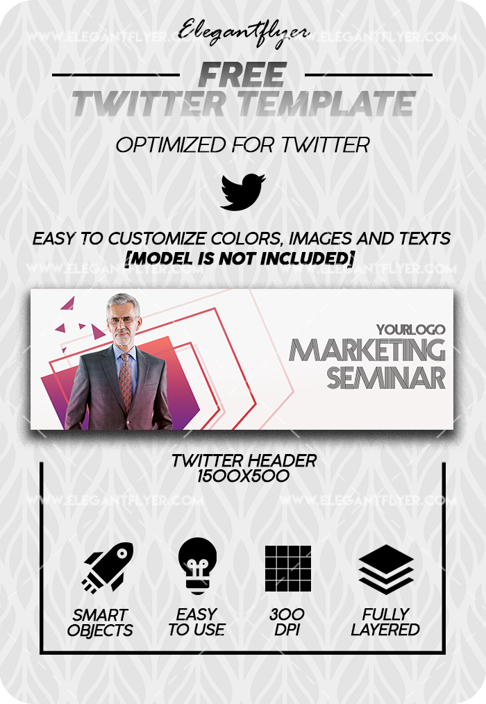 Marketing Seminar – Free Twitter Channel banner PSD Template
