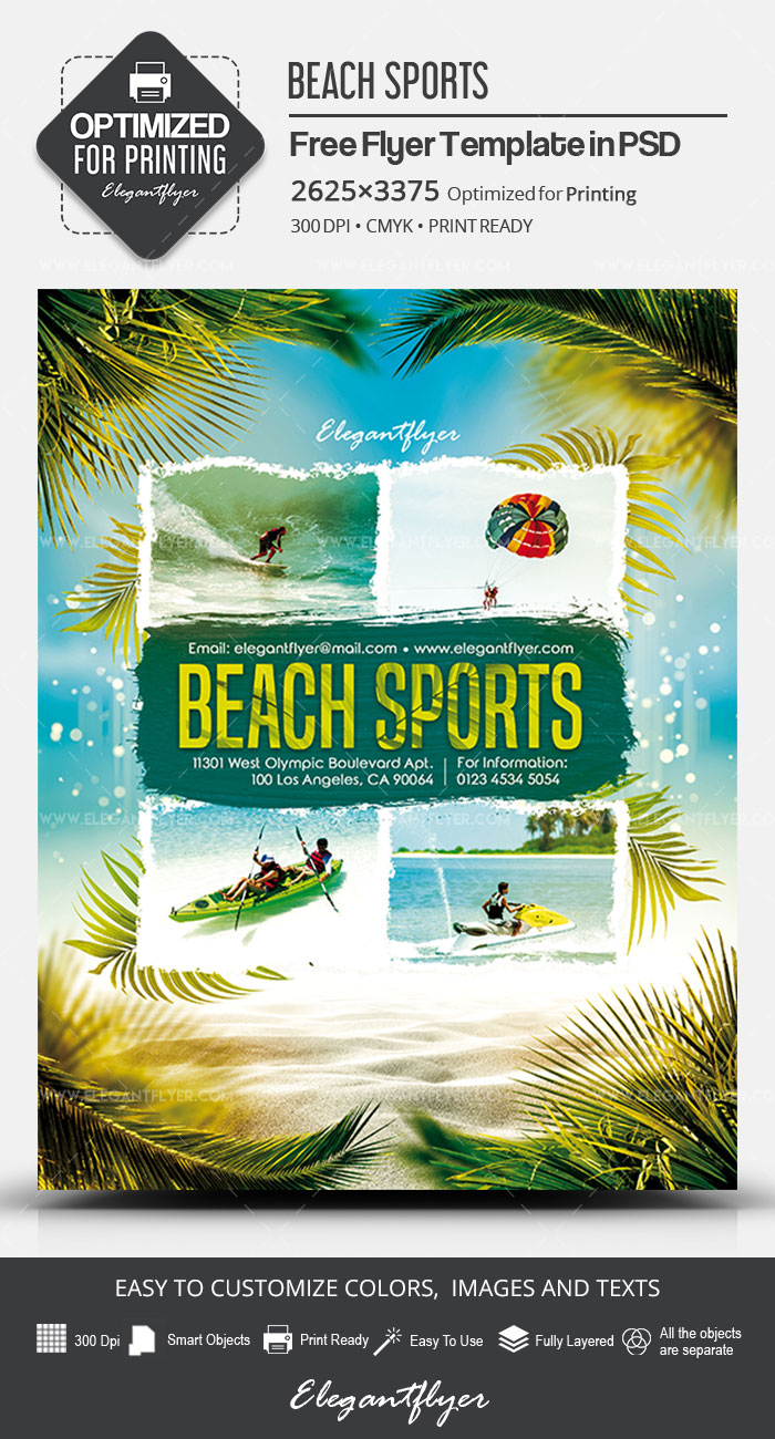 Beach Sports – Free PSD Flyer Template