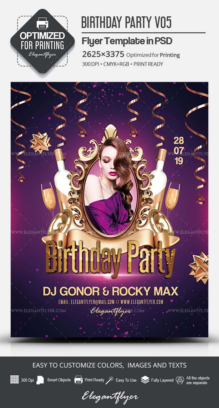 Birthday Party – PSD Flyer Template