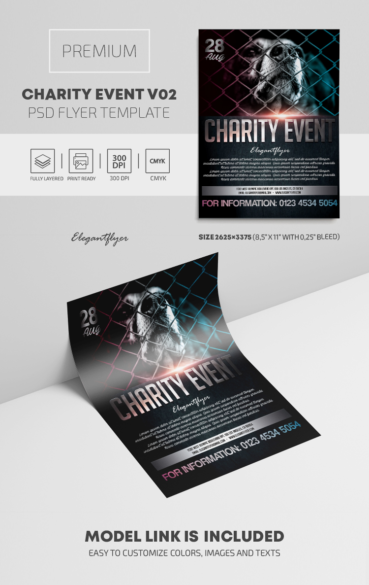 Charity Event – PSD Flyer Template