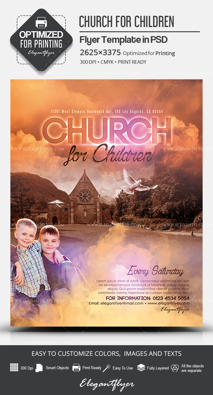 Church for Children – PSD Flyer Template