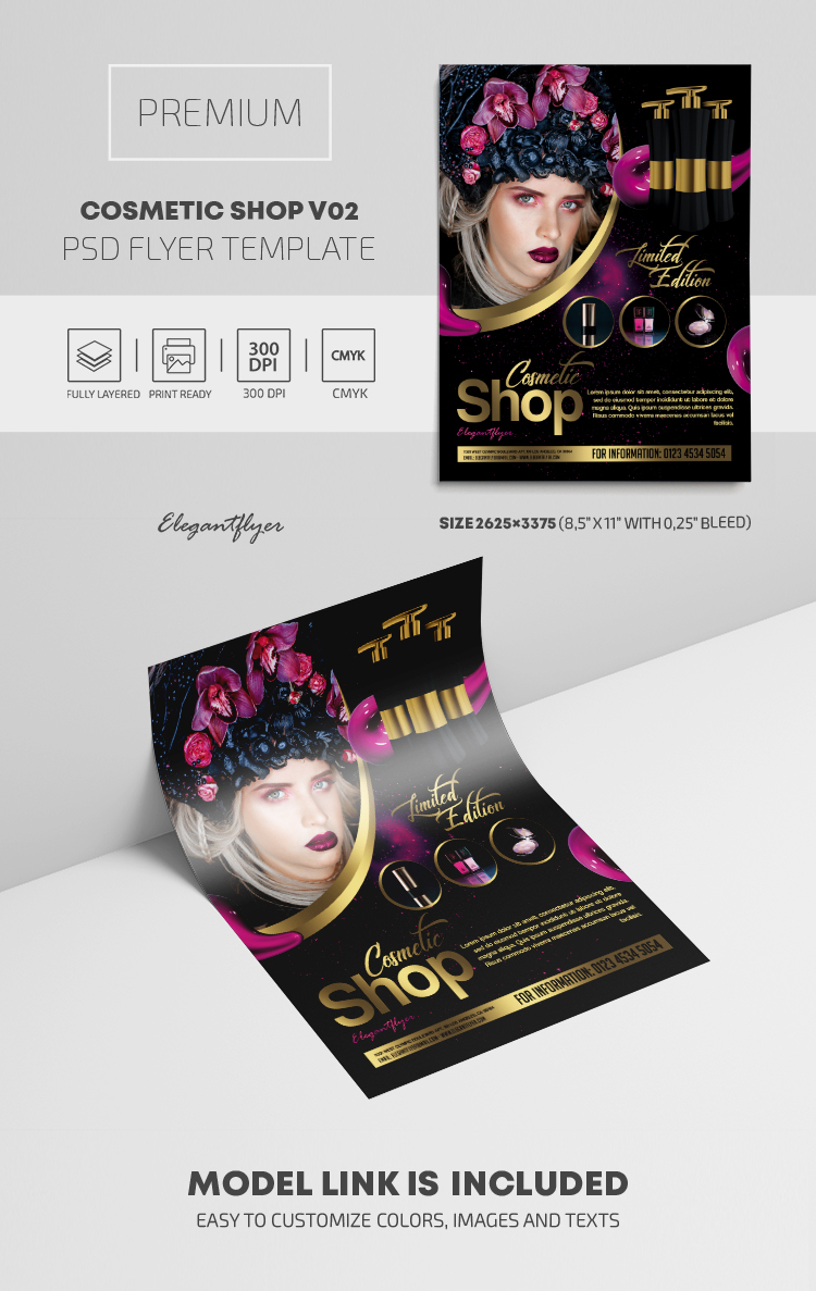 Cosmetic Shop – PSD Flyer Template
