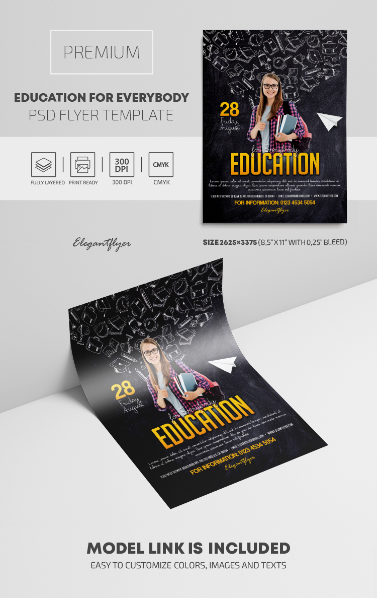 Education for Everybody – PSD Flyer Template