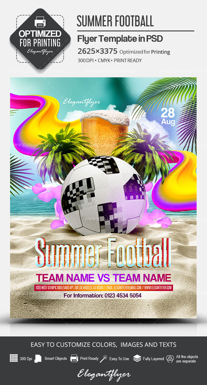 Summer Football – PSD Flyer Template