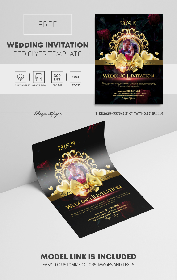 Wedding Invitation – Free PSD Template