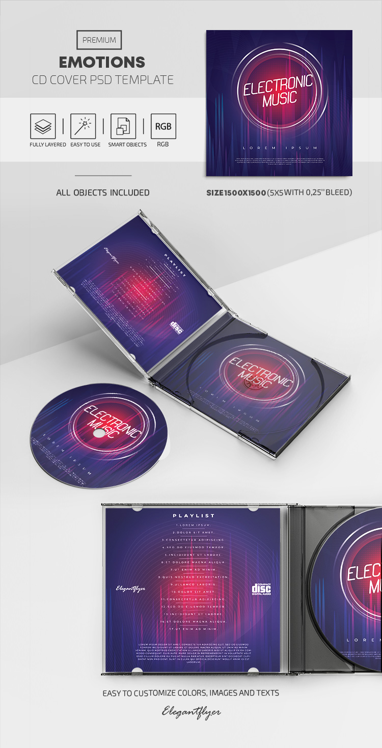 2019 Electronic Music – Free PSD CD Cover Template