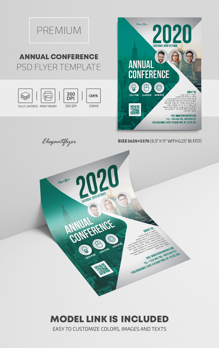 Annual Conference – Premium PSD Flyer Template