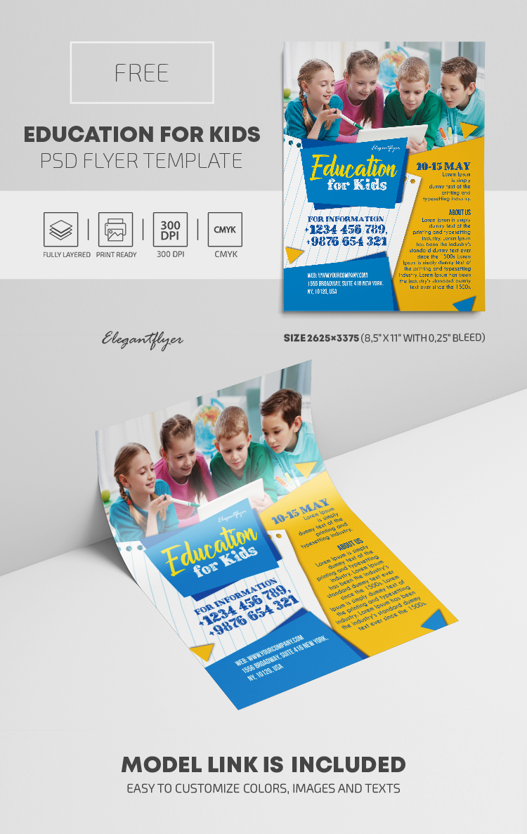 Education for Kids – Free PSD Flyer Template