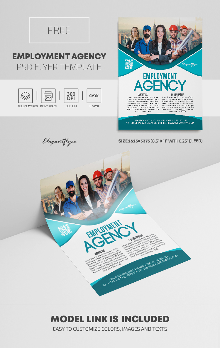 Employment Agency – Free PSD Flyer Template