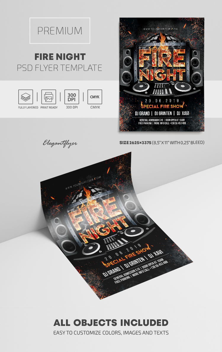 Fire Night – Premium PSD Flyer Template