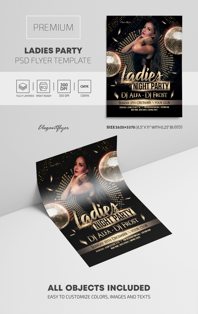 Ladies Party – Premium PSD Flyer Template