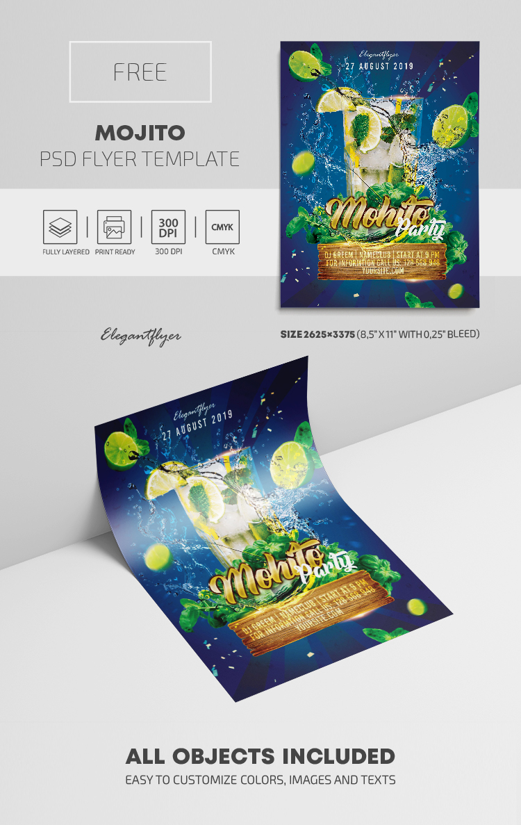 Mojito Club Party – Free PSD Flyer Template