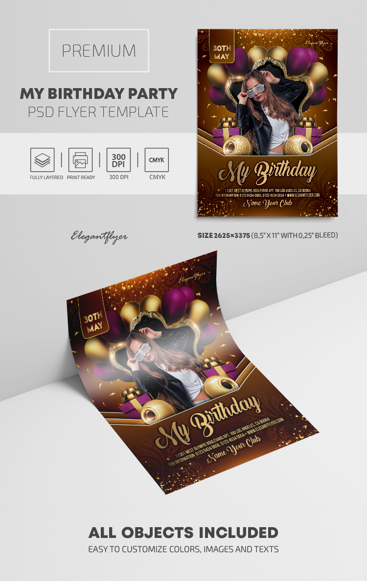 My Birthday Party – Premium PSD Flyer Template