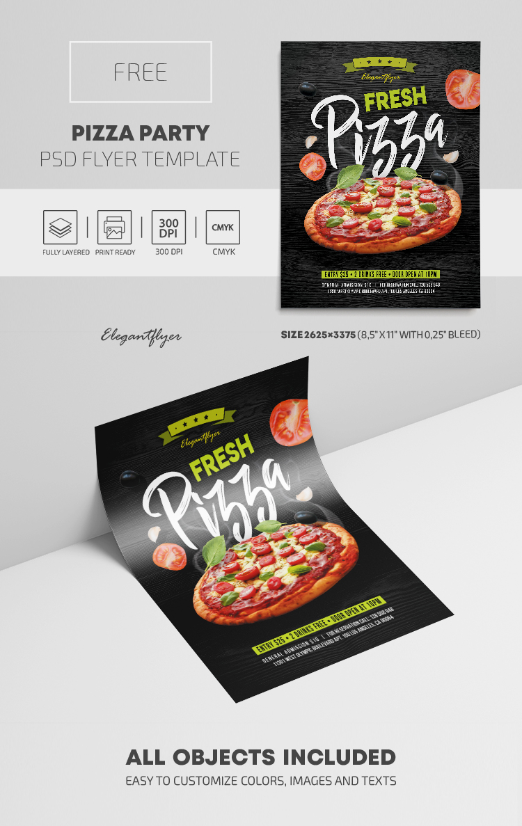 Pizza Party – Free PSD Flyer Template