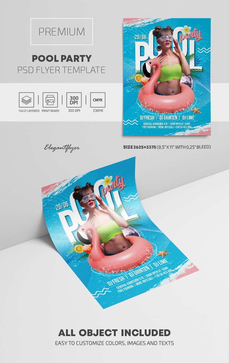 Pool Party – Premium PSD Flyer Template