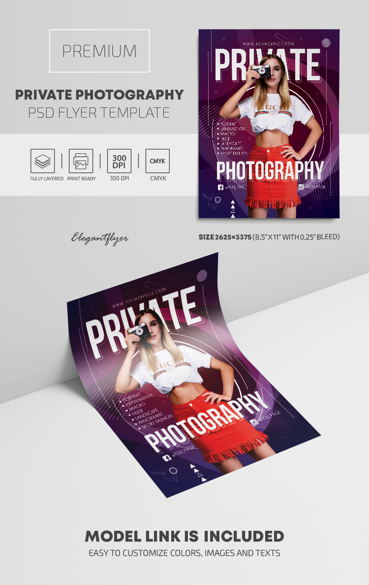 Private Photography – Premium PSD Flyer Template