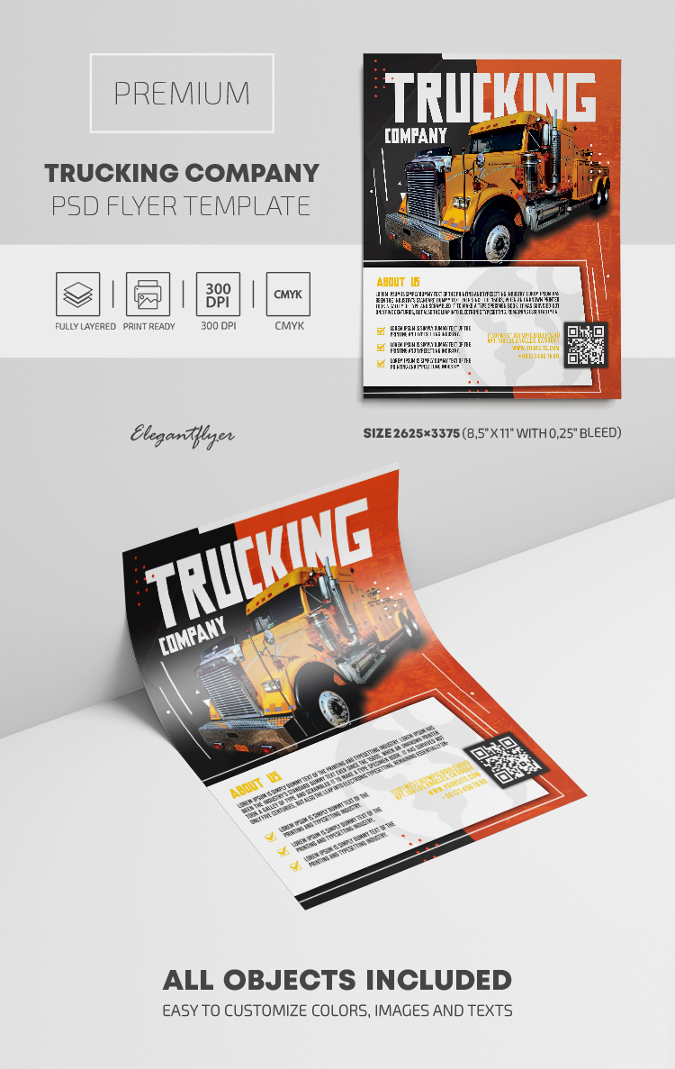 Trucking Company – Premium PSD Flyer Template