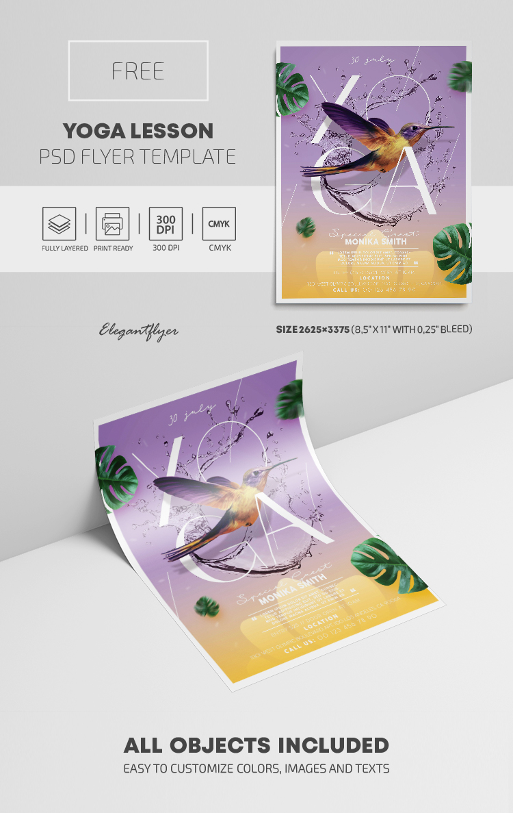 Yoga Lesson – Free PSD Flyer Template