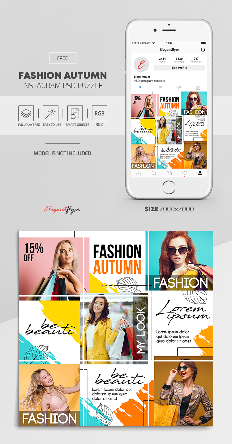Fashion Autumn Free Instagram Psd Puzzle By Elegantflyer